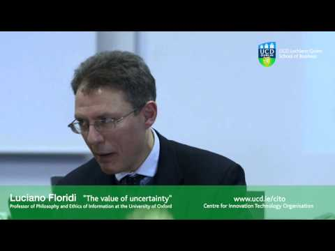 "Professor Luciano Floridi ""The Value of Uncertainty"" Q&A"