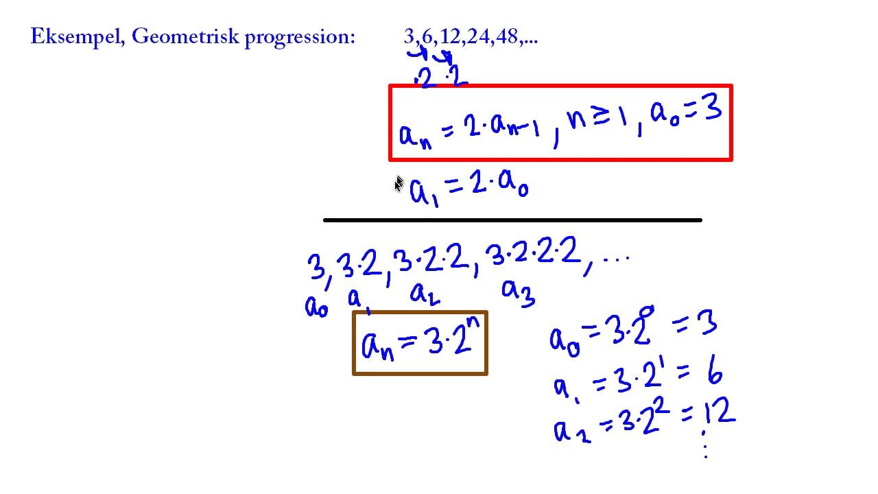 Diskret matematik - 01 - Introduktion - Talfølger - Rekursionsligninger