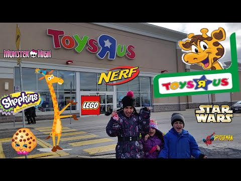 Toys R Us shopping- star wars, shopkins, Lego, Monster high, Nerf Guns, barbie and more