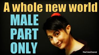 """A whole new world"" MALE PART Only with Lyrics. for Female part pra..."