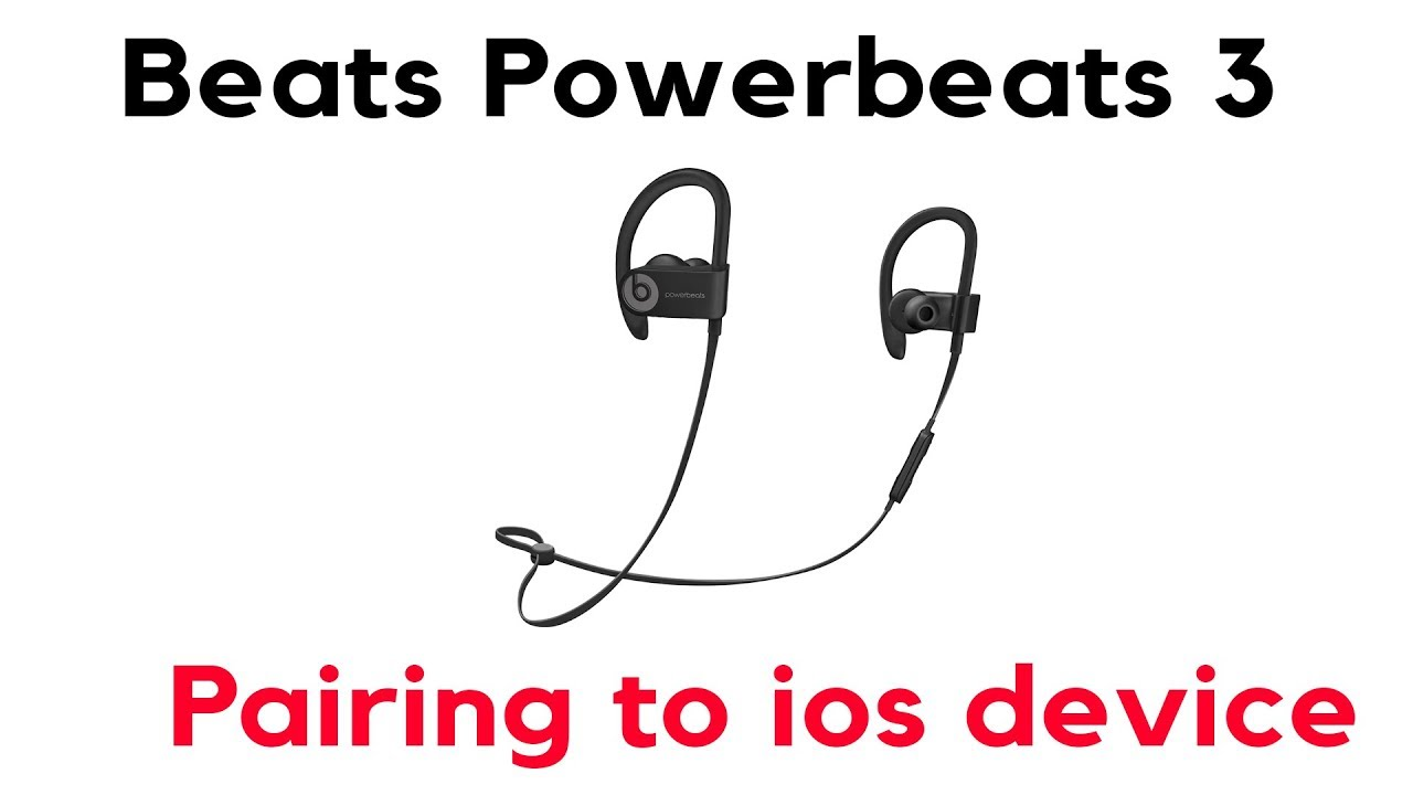 How to Pair your PowerBeats 3 Wireless Apple to your Phone