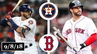 Houston Astros vs Boston Red Sox Highlights || September 8, 2018