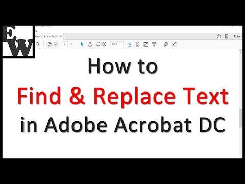 How To Find And Replace Text In Adobe Acrobat Dc