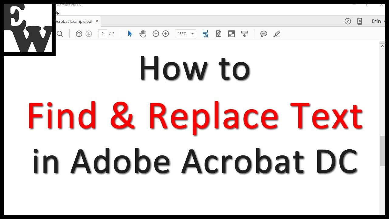How to find and replace text Adobe Acrobat