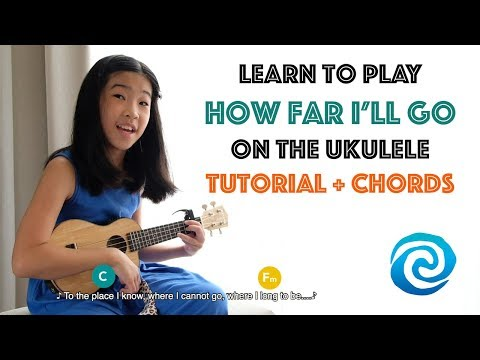 Ukulele Tutorial - How Far I'll Go from Moana - Easy Chords