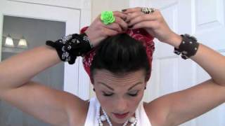 Pin-Up Hair Do - Rosie the Riveter Bandana | Kandee Johnson