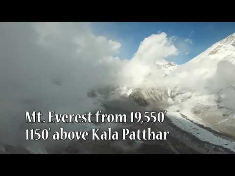 无人机航拍喜马拉雅山珠穆朗玛峰 珠峰大本营