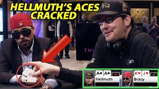 Phil Hellmuth gets ACES CRACKED 4 TIMES   Poker Night in America compilation