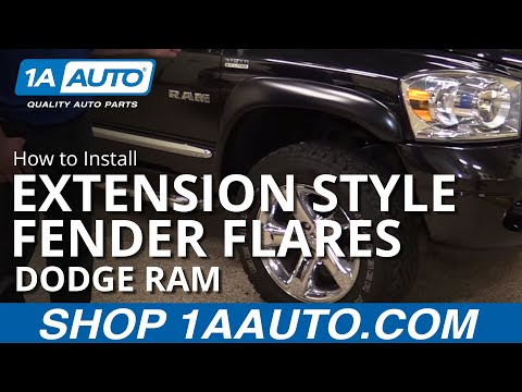 How to Install Extension Style Fender Flares 2002-09 Dodge BUY QUALITY AUTO PARTS AT 1AAUTO.COM