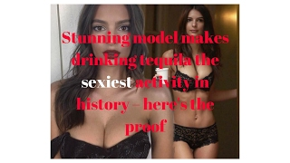 Stunning model makes drinking tequila the sexiest activity in history – here's the proof