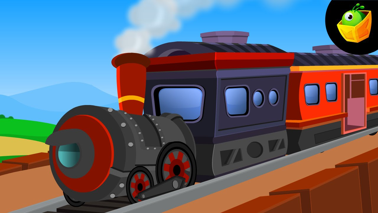चूक चूक रेल गाड़ी   Chuk Chuk Rail Gadi   Hindi Animated/Cartoon Nursery  Rhymes For Kids