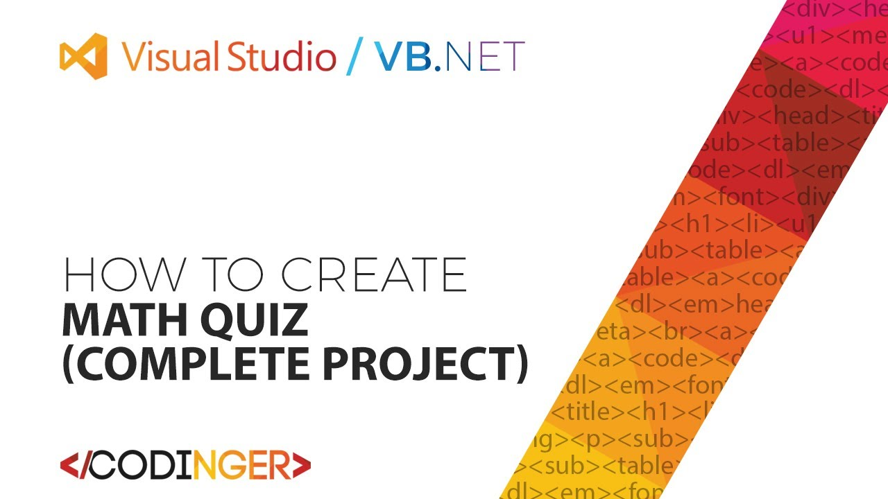VB.NET - Math Quiz (Complete Project) - YouTube
