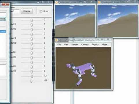 MRDS Quadruped Robot Simulation