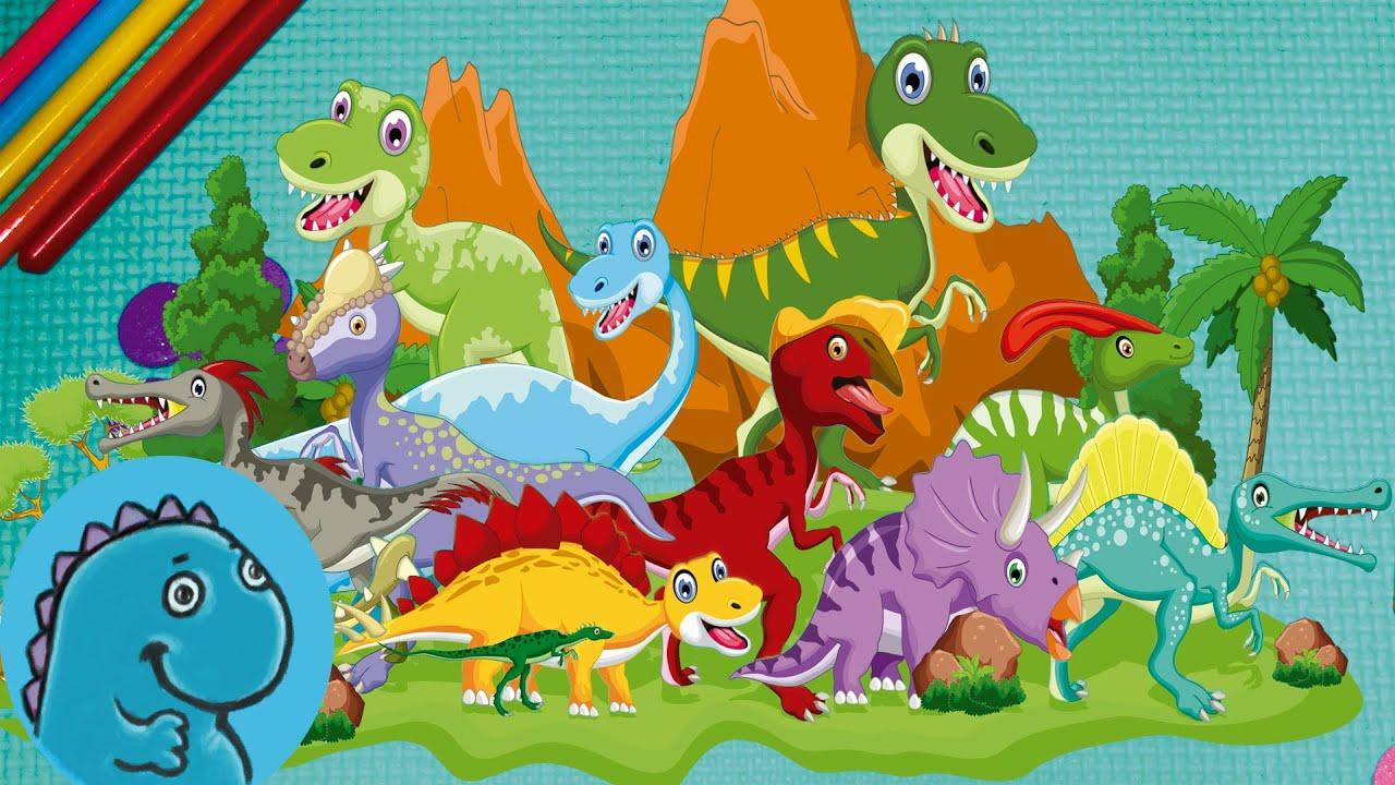 Wall Stickers Dinosaurs Dinosaurios Para Ni 241 Os ★ Dibujo En Espa 241 Ol Youtube
