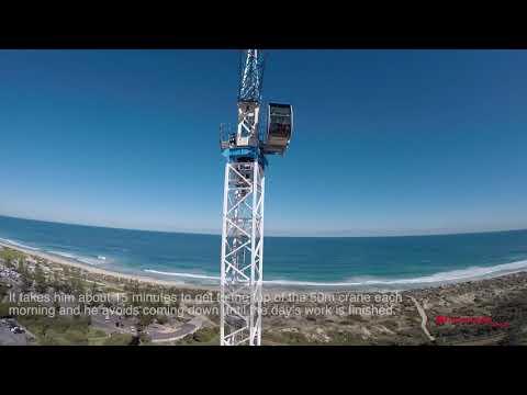 Crane Driver Has Perth's Best View