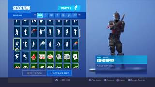 """Fortnite Buying The """"Showstopper"""" Emote and Showcasing it with 69 Skins"""