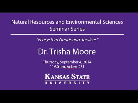 Ecosystem Goods and Services - NRES Seminar Series