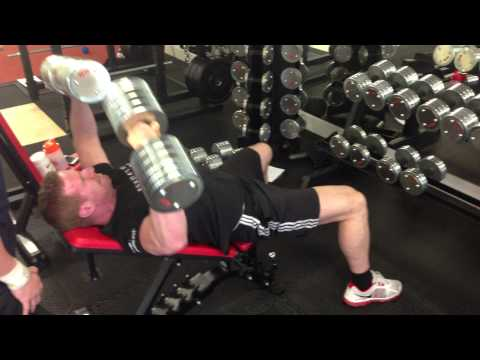 60 kg incline dumbbell press - Personal training in Nottingham