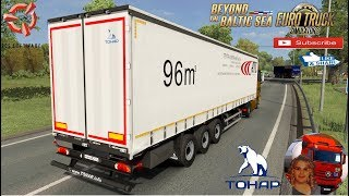 """Euro Truck Simulator 2 (1.36)   Tonar 9888 Ownable Trailer Pskov to Tartu Mercedes Actros MP2 + DLC's & Mods  Support me please thanks Support me economically at the mail vanelli.isabella@gmail.com  Roadhunter Trailers Heavy Cargo  http://roadhunter-z3d.de.tl/ SCS Software Merchandise E-Shop https://eshop.scssoft.com/  Euro Truck Simulator 2 http://store.steampowered.com/app/227... SCS software blog  http://blog.scssoft.com/  Specifiche hardware del mio PC: Intel CELERON G3900 2.80GHZ Dissipatore Cooler Master RR-TX3E  16GB DDR4 Memoria Kingston hyperX Fury MSI gtx 970 Twin Frozr Gaming 4gb ddr5 Asus Maximus VIII Ranger Gaming Cooler master Gx750 SanDisk SSD PLUS 240GB  HDD WD Blue 3.5"""" 64mb SATA III 1TB Corsair Mid Tower Atx Carbide Spec-03 Xbox 360 Controller Windows 10 pro 64bit"""