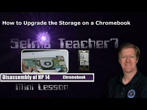 Disassembly of HP Chromebook 14 & upgrade of its SSD!