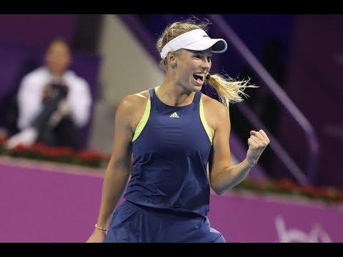 2018 Qatar Total Open Quarterfinals | Angelique Kerber vs. Caroline Wozniacki | WTA Highlights