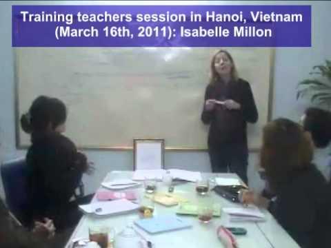 Training teachers session in Hanoi - 2