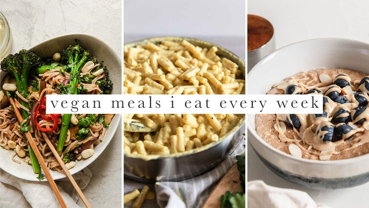 5 Vegan Meals I Eat Every Week + Huge 500k Giveaway!