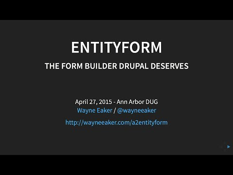 Introduction to the Entityform Module for Drupal 7