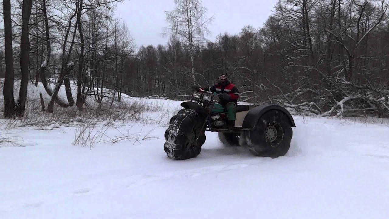 Полный привод на самодельный трактор 40