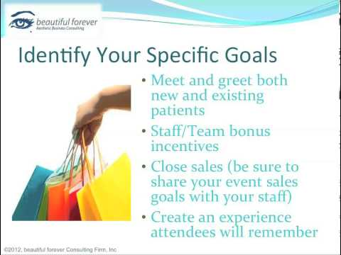 Aesthetic Business - Planning a Successful Event- Part 6 - Set Goals for Your Event