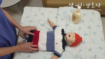 신생아중환자실 간호사가 알려주는 신생아  배마사지