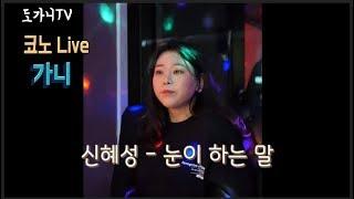 [도가니 코노 LIVE] 신혜성 (SHINHWA) - 눈이 하는 말 l Cover by. 가니