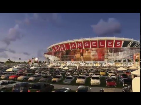 Los Angeles Stadium, Carson - Animation - Feb. 2015