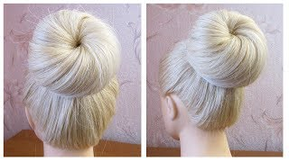 Chignon bun en 2 minutes ★ Tuto coiffure simple et rapide ★ Quick & Easy Bun Tutorial