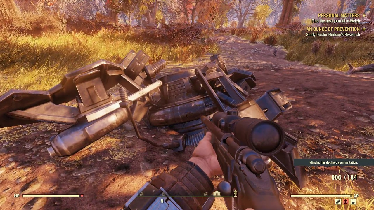 Fallout 76 Moments: A Crashed Satellite