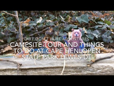 CAMPSITE TOUR AND THINGS TO DO AT CAPE HENLOPEN  STATE PARK LEWES DE