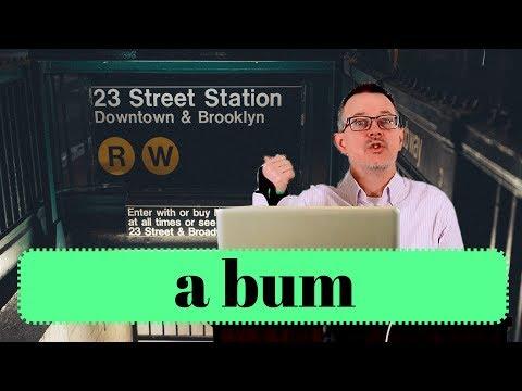Learn English: Daily Easy English 1169: a bum