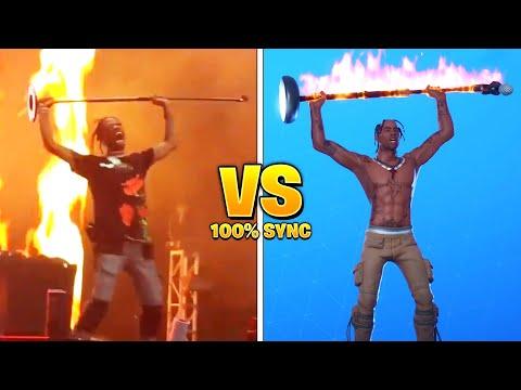 *NEW* Fortnite Dances & Emotes In Real Life..! (Travis Scott Rage)