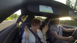 grandma gets scared to death by grandson in nissan gtr
