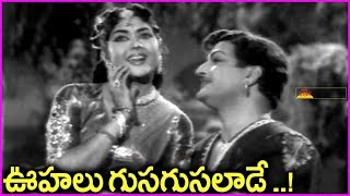 Oohalu Gusagusalade Video Song - Bandipotu Telugu Movie Songs | NTR