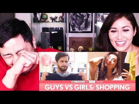 FILTERCOPY | GUYS VS GIRLS: SHOPPING |  Reaction!