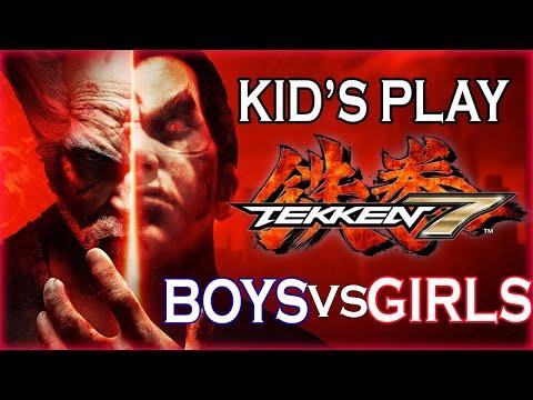 Kid's Play: Tekken 7 (Team Girls Vs Team Boys) Part 1