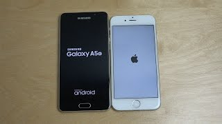 Samsung Galaxy A5 2016 vs. iPhone 6 - Speed Test!