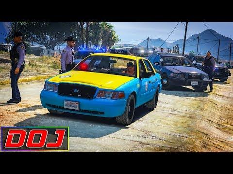 GTA 5 Roleplay - DOJ #101 - Taxi Getaway