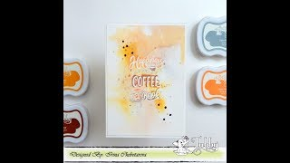 Ink smooshing and watecoloring technique | Tutorial by Irina| Tubby Craft Bookmark Quote Stamp set