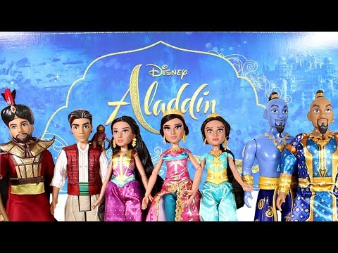 Disney Aladdin Live Action Movie Dolls Unboxing Toy Review