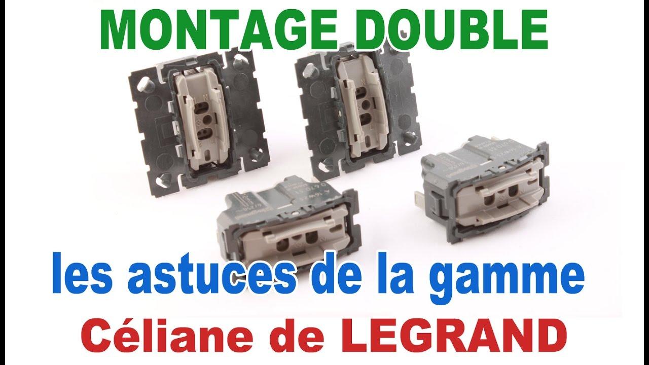 Jeune de A à Z : montage double interrupteur celiane avec inter simple UN-59