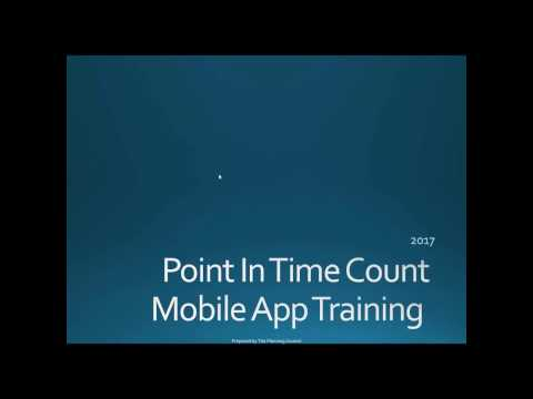 2017 Point in Time Count Volunteer Training