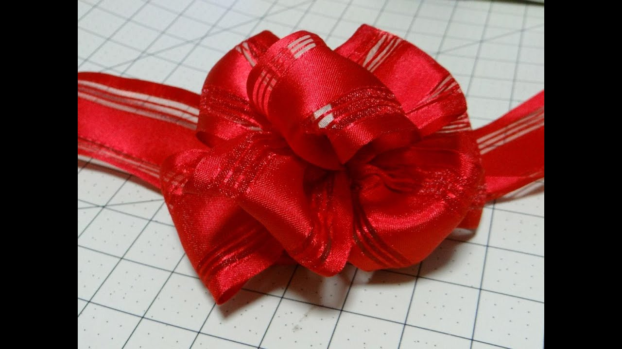 easy bow using wire edge ribbon instructional youtube