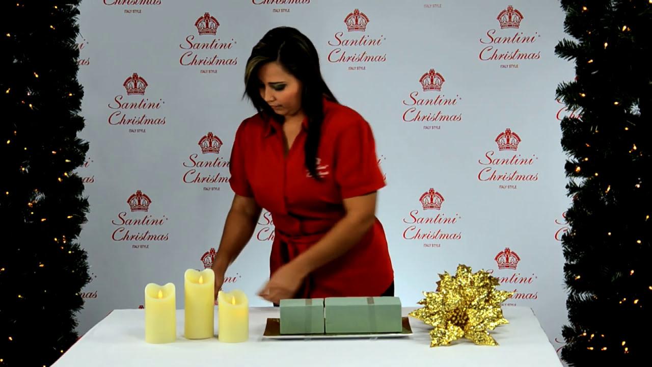 C mo armar un hermoso centro de mesa youtube - Adornos de mesa navidenos ...